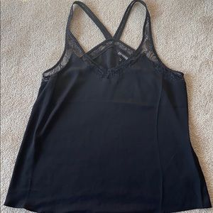 Express black tank with lace